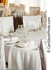 noce blanche, table, ensemble