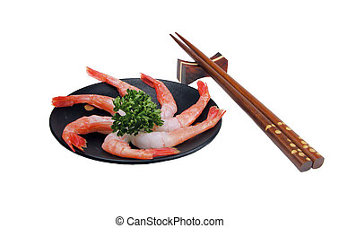 noch, garnele, sashimi