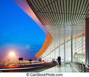 noche, arquitectura moderna