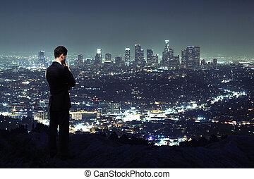 noche, ciudad