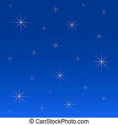 noche, estrellas, cielo