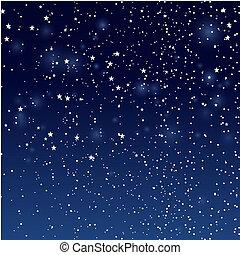 noche, estrellas, sky.