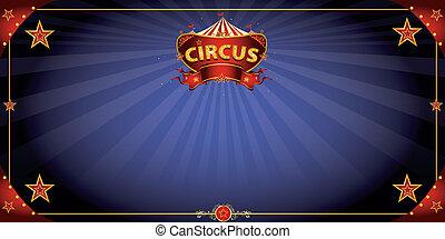 noche, tarjeta, circo, saludo, fantástico