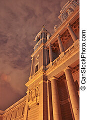 noche, y, subiba, spain-2, catedral, madrid, la, cupula, museo