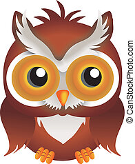 Nocturnal Owl - Scalable vectorial image representing a...