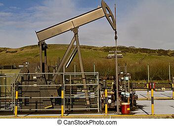 Nodding Donkey at the UK's oldest onshore oil field at Kimmeridge in Dorset