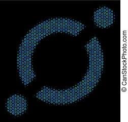 node, collage, halftone, forbindelsen, bobler, ikon
