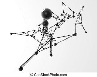 nodes isolated on white background