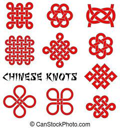nodi, collezione, cinese
