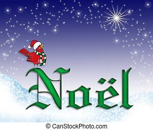 Noel Christmas card background - illustration composition...