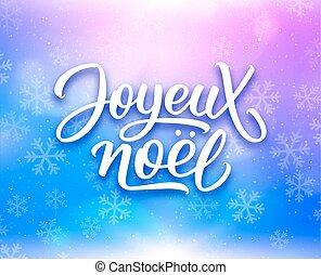 Noel Francês Joyeux Feliz Lettering Natal Apartamento