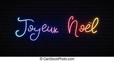 noel, navidad, french., joyeux, -, alegre