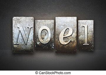 noel, texto impreso