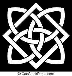 noeud, point, 4, celtique, beau