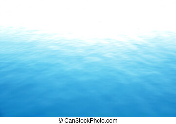 nog, blauwe , zee water, oppervlakte