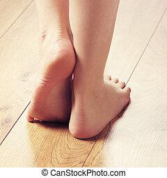 nogi, compositions, różny, sexy, samica, obfitość, zdrój, ...