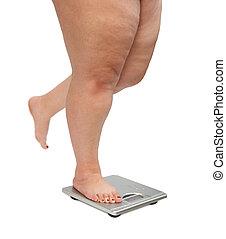 nogi, przeważać, kobiety