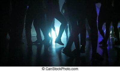 nogi, sylwetka, taniec, ludzie, światła, opalizujący, salsa, partia, latino, wielobarwny