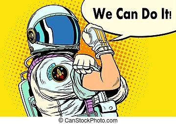 noi, astronauta, lattina, esso