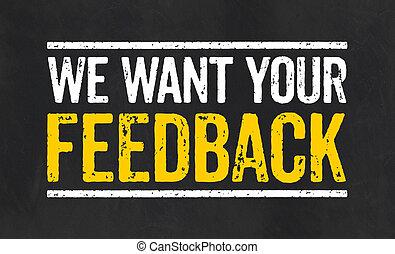 noi, feedback, lavagna, volere, testo, tuo