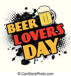 noir, éclaboussure, encre, amants, bière, jour