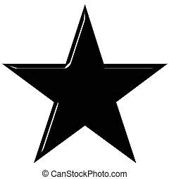 noir, étoile, 3d