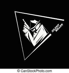 noir, すり減る, ポスター, レインコート, 手掛かり, キラー, サングラス, 印, 探偵, hitman, 黒い帽子, 映像, handgun., 白, スタイル, ∥あるいは∥, 無声, usage.