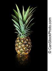noir, ananas