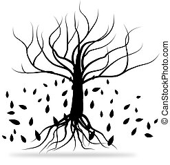 noir, arbre
