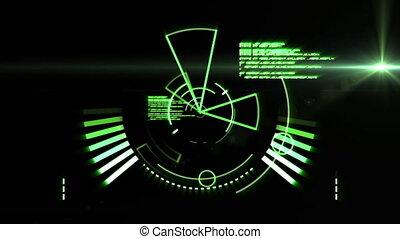 noir, arrière-plan animation, numérique, données, portée, ...