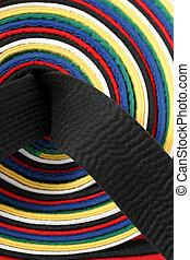 noir, arts martiaux, -, ceinture