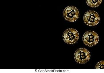 noir, bitcoin, fond