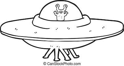 Blanc noir vaisseau spatial acier futuristics reflet r sum moderne ciel contemporain - Dessin vaisseau spatial ...