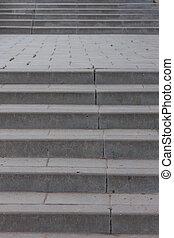noir, blanc, escalier, résumé