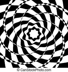 noir, blanc, optique, art, fond
