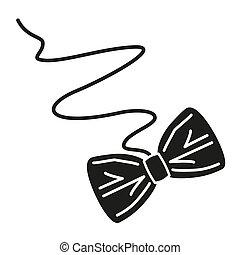 noir blanc, papier, arc, chat, jouet, silhouette