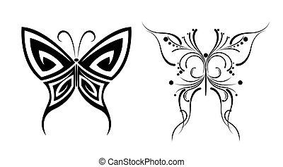 papillon tatouages tatouage butterflyes ensemble vecteurs eps rechercher des clip art. Black Bedroom Furniture Sets. Home Design Ideas