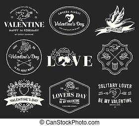 noir, blanc, valentines, amour