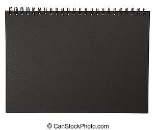 noir, bloc-notes