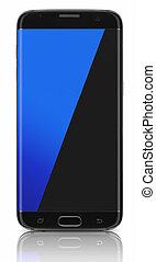 noir, bord, smartphone
