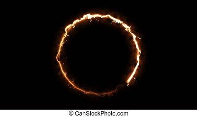 noir, brûler, rendre, anneau, arrière-plan., 3d, engendré, ...