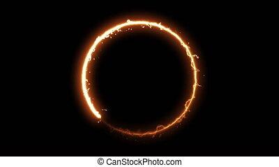 noir, brûler, rendre, anneau, arrière-plan., 3d, engendré, résumé, cercle, informatique