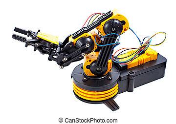 noir, bras, jaune, robotique