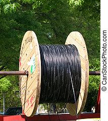 noir, câble