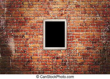 Mur 2 noir cadres brique blanche photos de stock - Mur brique noir ...