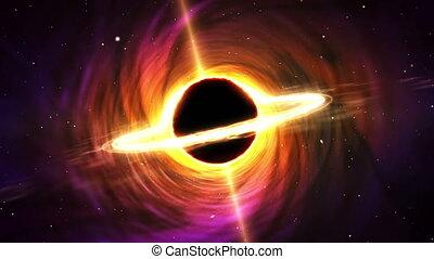 noir, centre, trou, galaxie, (space)