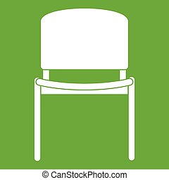 noir, chaise, vert, bureau, icône