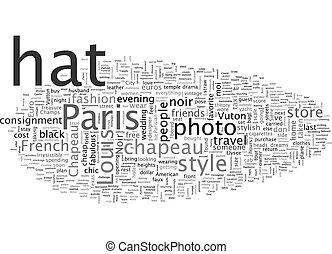 noir, chapeau, texte, voyages, bon marché, fond, wordcloud, ...