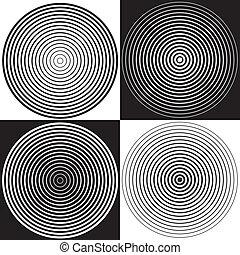 noir, conceptions, blanc, spirale