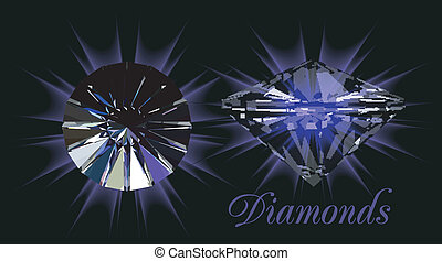 noir, diamants